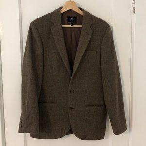 Men's J Crew 36 Short Tweed Herringbone Blazer